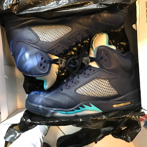 5b416e85f0d Jordan Shoes | Nike 5 Air Retro Midnight Navy Blue Hornets | Poshmark